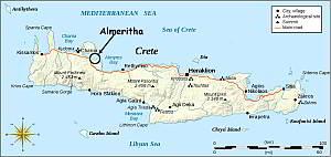 Island of Crete - Almeritha Location