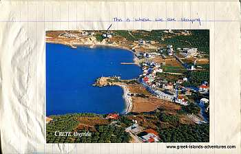 Island of Crete - Almeritha and Villa Postcard