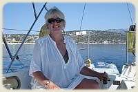 Sailing Flotilla - Mrs. S at the helm