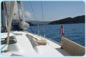 Sailing Greek Islands - View from Cockpit