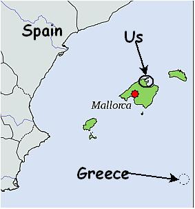Selkie Dancer - Mallorca Map