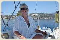 Sailing Flotilla - Mrs. S at the helm