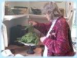 Spanakopita - Weighing Spinach